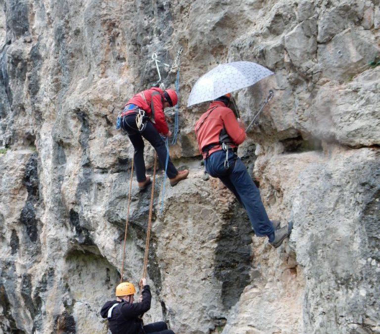Alpinistična šola v plezališču Dolga njiva