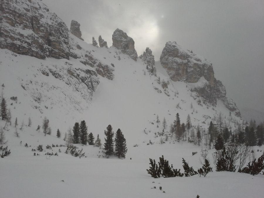 Forcella Longeres 2330 m (Rifugio Auronzo, Tre cime)