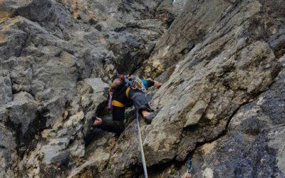 Zajeda Travnika VI-,A0/V, 700m