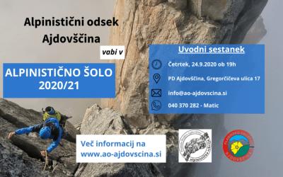 Alpinistična šola 2020/21