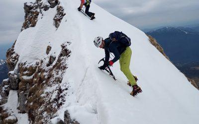 Srednji vrh (2032 m) – Leva in Desna grapa