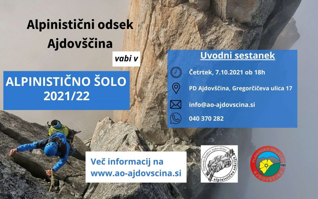 Alpinistična šola Ajdovščina 2021/22